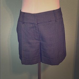 Gray cuffed dress shorts